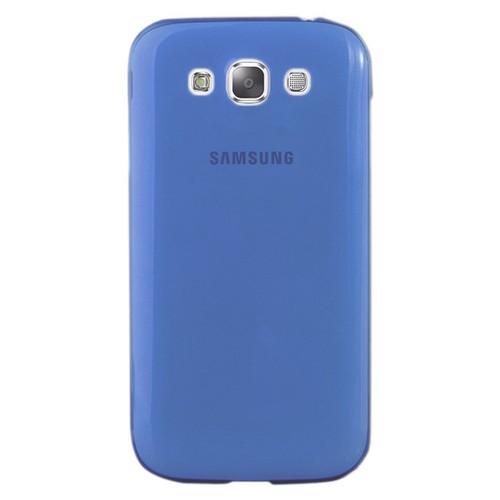 CoverZone Samsung Galaxy E7 Kılıf 0.3mm İnce Silikon Mavi