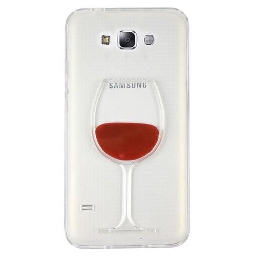 CoverZone Samsung Galaxy E7 Kılıf Silikon Kadeh Kırmızı