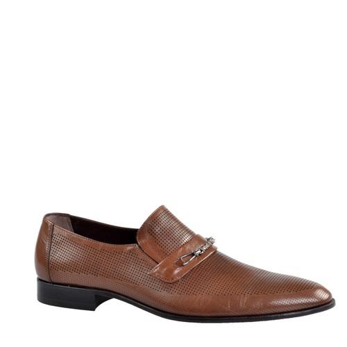 Cabani Tokalı Klasik Erkek Ayakkabı Kahverengi Buffalo Deri