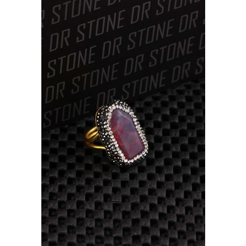 Dr Stone Doğaltaş -Kadın Akik Yüzük 20Ar490