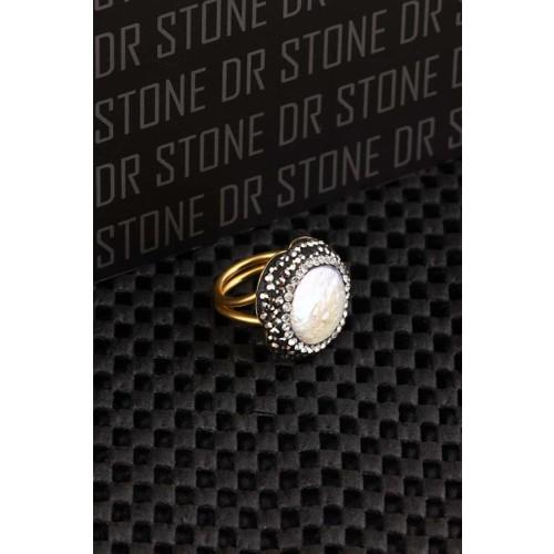 Dr Stone Doğaltaş -Kadın İnci Yüzük 20Ar496