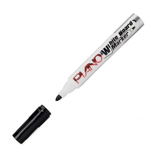 Piano 6 Adet Siyah Renk Beyaz Yazı Tahtası Kalemi (Board Marker) - Brons 1 Adet Tahta Silgisi