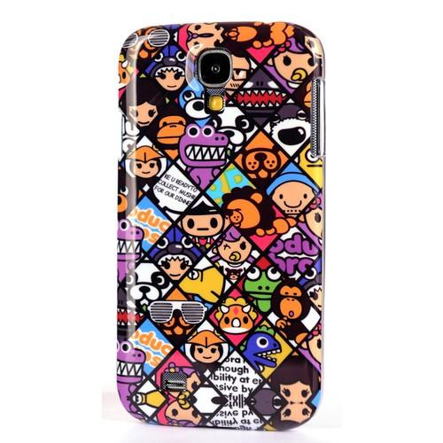 CoverZone Samsung Galaxy S4 Kılıf Rubber Sert Kapak Resimli No: 4