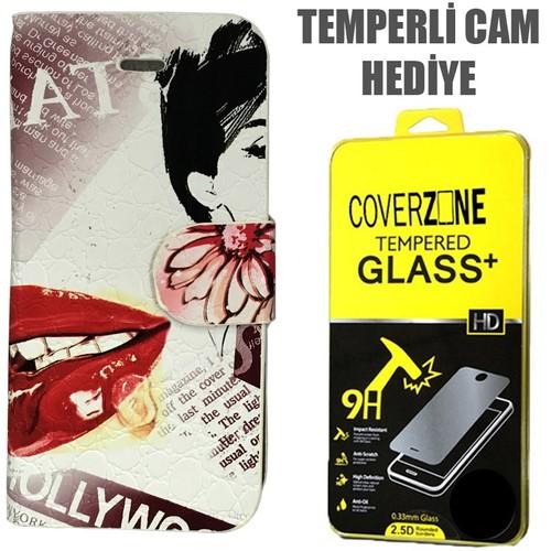 CoverZone Apple İPhone 5/5S/Se Kılıf Japan Desing No 4 + Temperli Cam