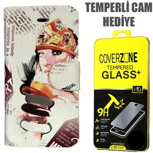 CoverZone Apple İphone 5/5S/Se Kılıf Japan Desing No 1 + Temperli Cam