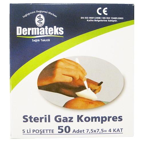 Dermateks Steril Gaz Kompres 50 Adet