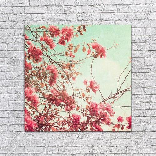 Albitablo Kırmızı Çiçek Kanvas Tablo