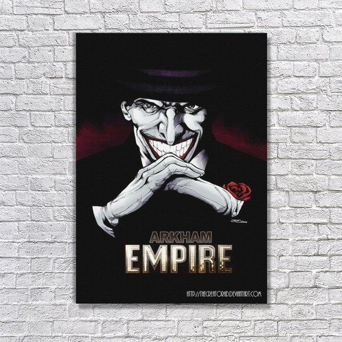 Albitablo Poster Joker In Arkham Empire Kanvas Tablo
