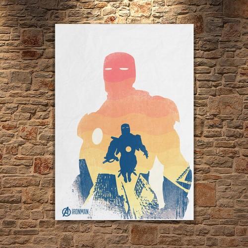 Albitablo Poster Love Marvel Iron Man Kanvas Tablo