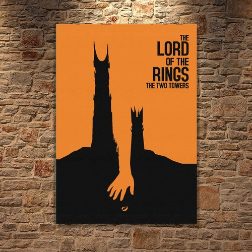 Albitablo Poster Love Lord Of The Rings Two Towers Kanvas Tablo