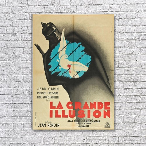 Albitablo Poster Love La Grande Illusion Kanvas Tablo