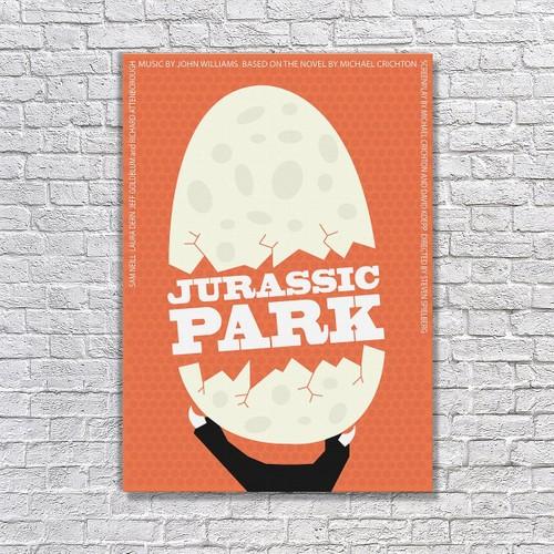 Albitablo Poster Love Jurassic Park Kanvas Tablo