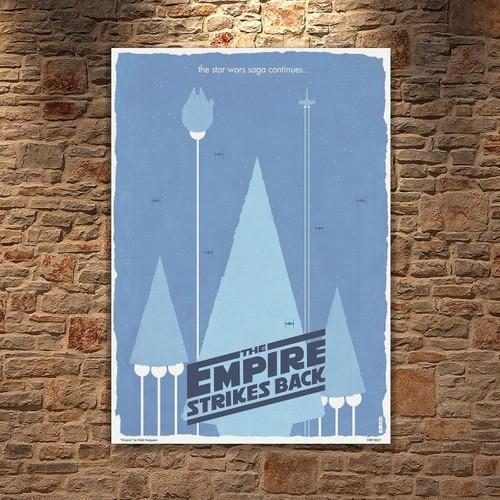 Albitablo Poster Love Empire Strikes Back Kanvas Tablo