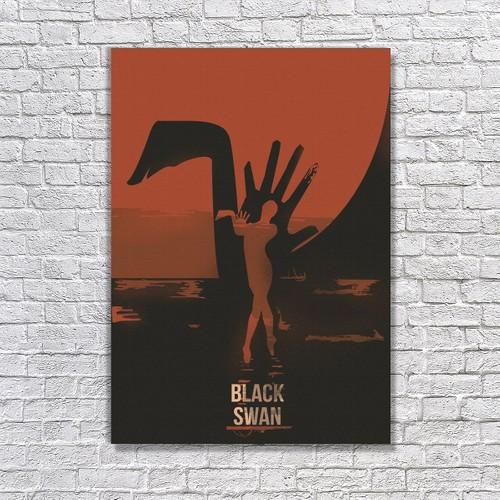 Albitablo Poster Love Black Swan 3 Kanvas Tablo