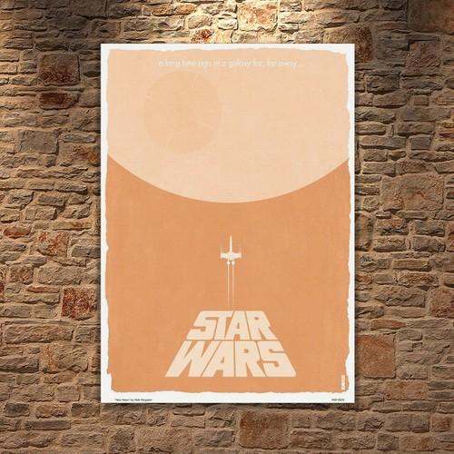 Albitablo Poster Love Star Wars Kanvas Tablo