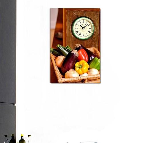 Tictac Design Kanvas Tablo Saat - Mutfak1