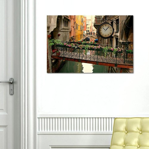 Tictac Design Kanvas Tablo Saat - Venedik