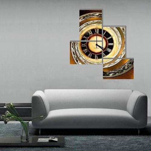Tictac Design Parçalı Kanvas Tablo Saat