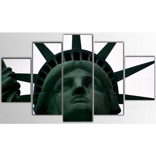 Tictac Design 5 Parça Kanvas Tablo - USA