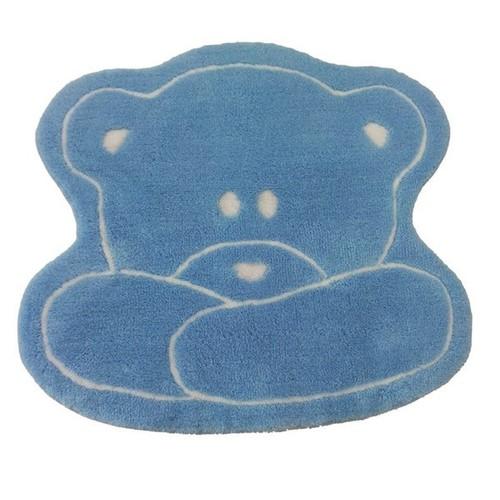 Alessia Akrilik Tek Parça Çocuk Paspası Teddy Mavi