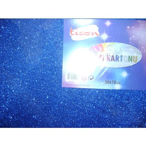 Ticom Simli Fon Kartonu 50*70Cm Mavi