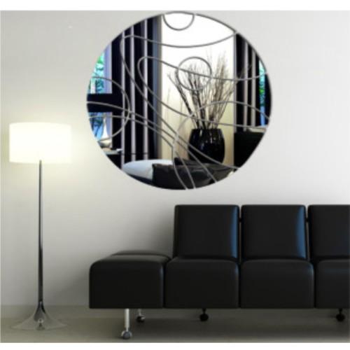 M3 Decorium Çizgili Daire Dekoratif Ayna