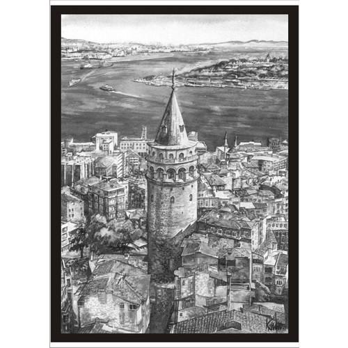 M3 Decorium Galata Kulesi Poster