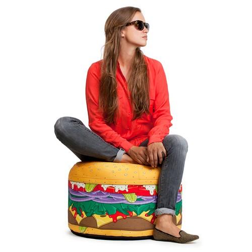 I Love Home Mini Burger Puf
