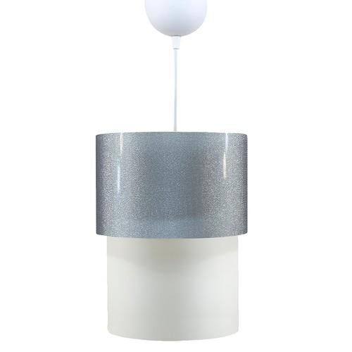 Crea Lighting DoubleshadeKüçük Sarkıt-Şeffaf-Gümüş