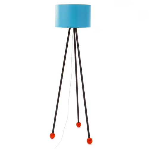 Decortie Morello Renkli Lambader - Siyah Gövde Mavi Silindir Şapka