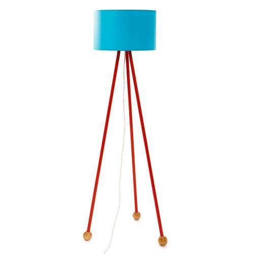 Decortie Morello Renkli Lambader - Kırmızı Gövde Mavi Silindir Şapka