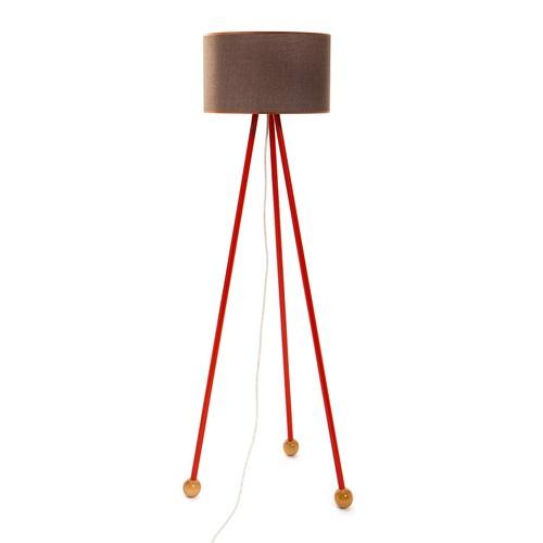 Decortie Morello Renkli Lambader - Kırmızı Gövde Kahve Silindir Şapka