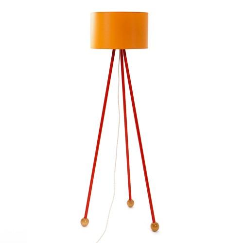 Decortie Morello Renkli Lambader - Kırmızı Gövde Turuncu Silindir Şapka