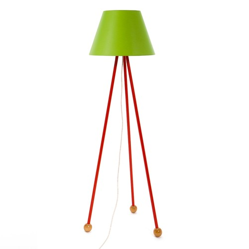 Decortie Morello Renkli Lambader - Kırmızı Gövde Yeşil Konik Şapka