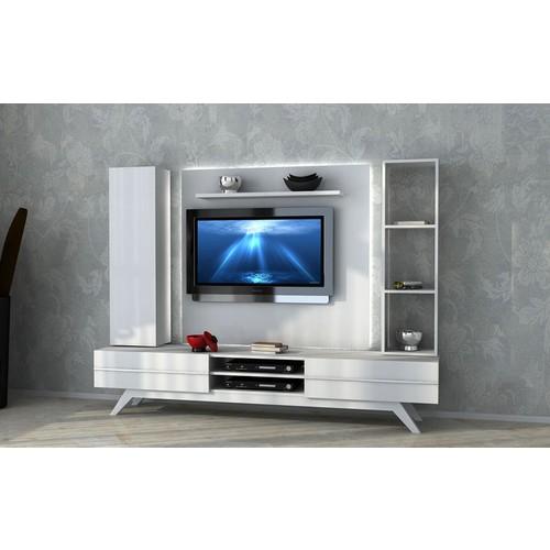 Sanal Mobilya Rüya Tv Ünitesi 123560 - Parlak Beyaz