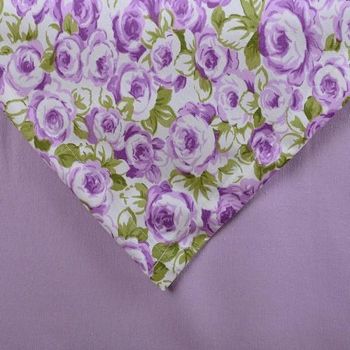 Aliz Lila Çiçekli Masa Örtüsü Set - 140x170 cm