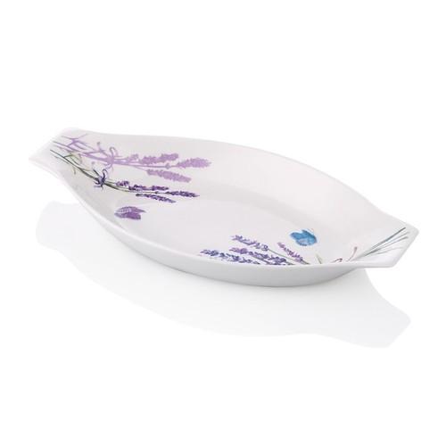 Noble Life Lavanta Desen Oval Servis 21 cm