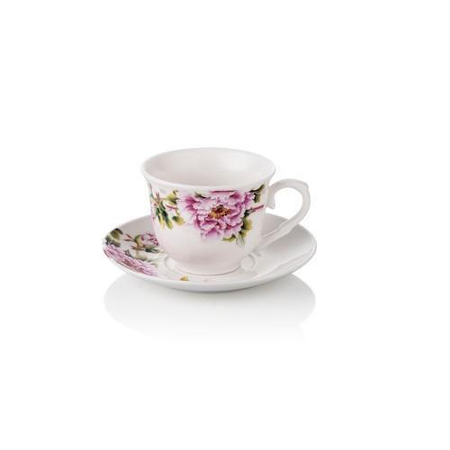 Noble Life 6 lı Pembe Karanfil Kahve Fincanı Seti