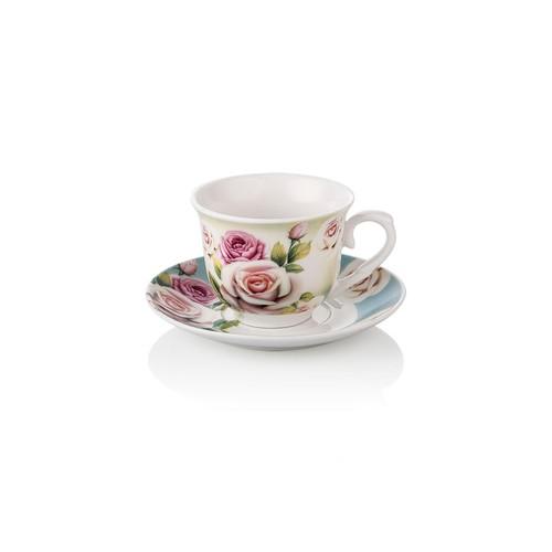 Noble Life 6 lı Blue Rose Kahve Fincanı Seti