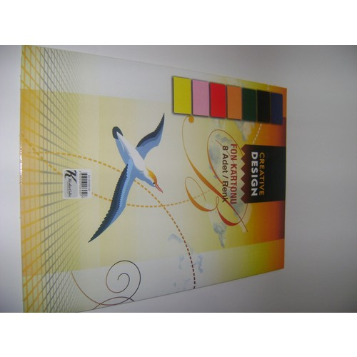 Keskin Color Fon Kartonu 8 Renk+Dosya