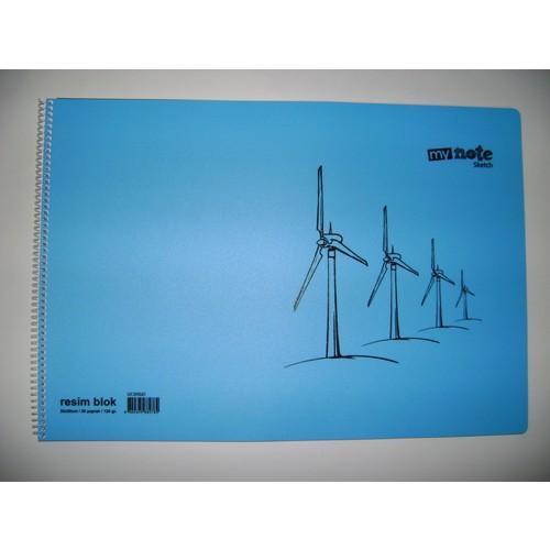 My Note Resim Defteri 30 Yp 120Gr Kağıt Pp Kapak 35*50Cm