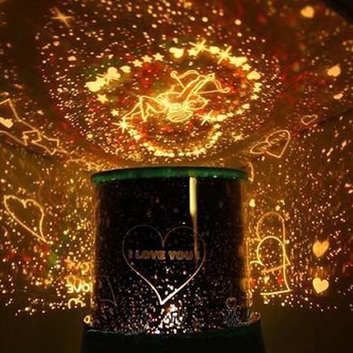 Pratik Şeyler Kalp Projeksiyonlu Gece Lambası Star Lover