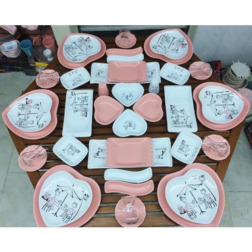Keramika 44 Parça 6 Kişilik Peri Masalı Kahvaltı Takımı
