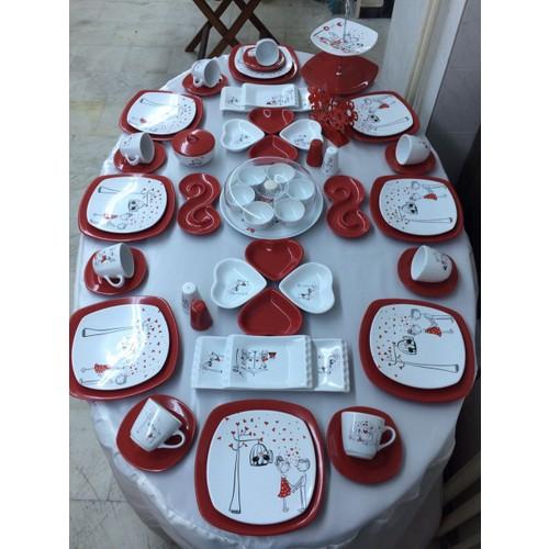 Keramika 63 Parça 8 Kişilik Peri Masalı Kahvaltı Takımı