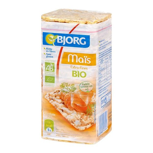 Corn Cakes 130Gr Export - Organik Glutensiz Mısır Topakları