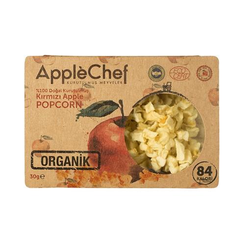 Organik Kırmızı Elma Popcorn, 30gr 3+1 Hediyeli!