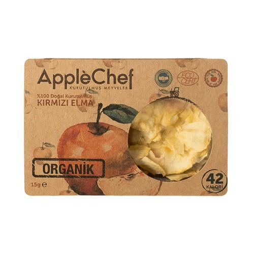 Organik Kırmızı Halka Kesim Elma,15gr 4+1 Hediyeli!