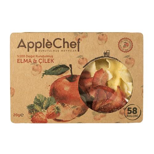 Kurutulmuş Elma&Çilek Cips, 15gr 4+1 Hediyeli!