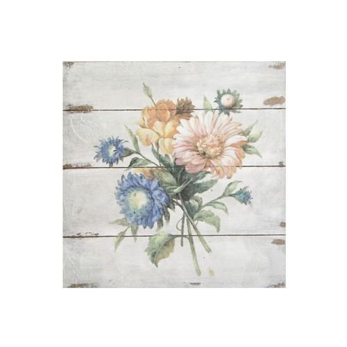 Artmosfer Dekoratif Ahşap Tablo Çiçekler