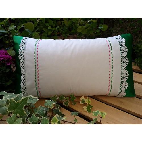 Begüldan Biryastıkta Kocasınlar Yastığı - Yeşil